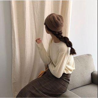 🚚 韓國 白色毛料上衣