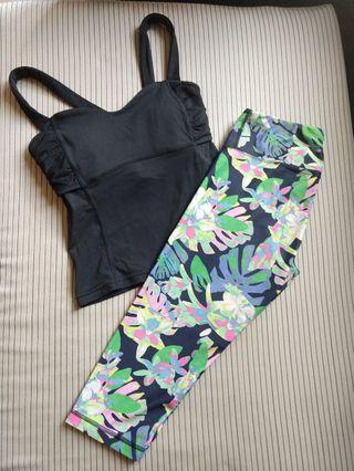 Lucy sexy top + Titika crop pants XS set