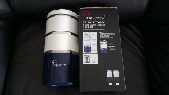 La Gourmet 3R Pack To Go 1.23L Triple Decker Food Jar
