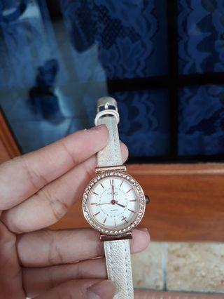 VNC White metallic watch