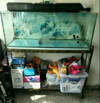 4ft fish tank and metal frame for sale