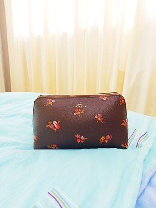 BN Authentic Coach Large Floral Cosmetics Pouch