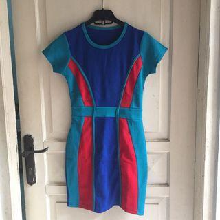 Dress bahan cornskin, mini dress