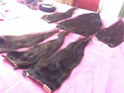 hair clip rambut asli manusia