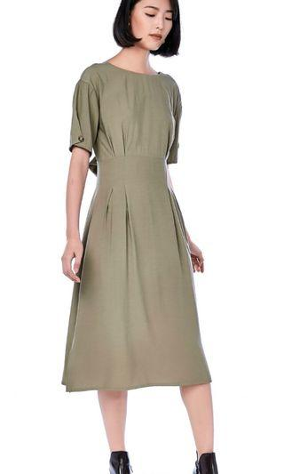 🚚 Mell Low Back Dress Sage
