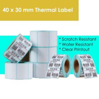 🚚 Thermal Label Stickers 40 mm x 30 mm