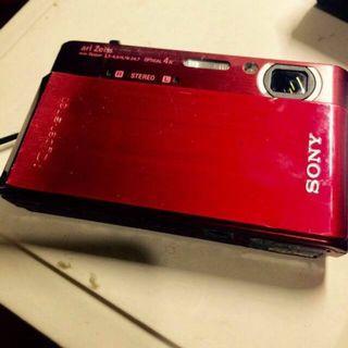 SONY T900 數位相機 紅色 全觸控式 防手震 高畫質
