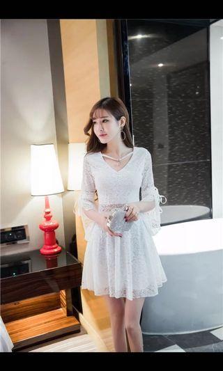 (全新) 白色連身裙