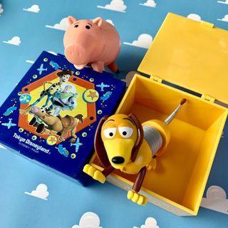 TDL 玩具總動員 置物盒 TOYSTORY 黃色 藍色 8x8cm 紅心 巴斯光年 胡迪 皮克斯 迪士尼