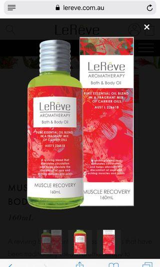 Muscle recovery bath & body oil blend