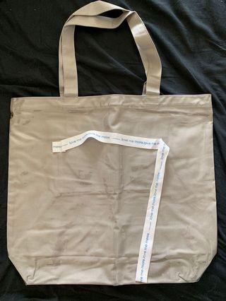 Pazzo灰色標語亮面購物袋