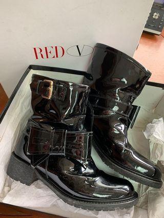 Red Valentino 漆皮蝴蝶結 Boot 39碼