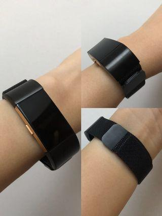 Fitbit Charge 2 Milanese Stainless Steel Mesh Straps