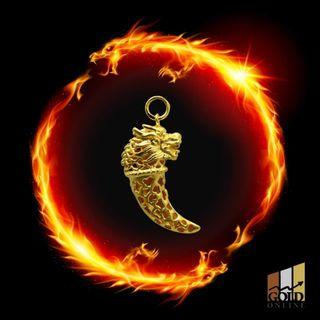 999 Pure Gold Dragon Tooth Pendant