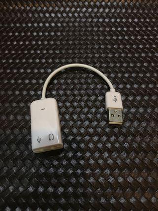 USB音效卡(隨插即用)