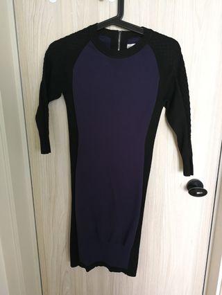 Karen Millen dark blue/black knit dress
