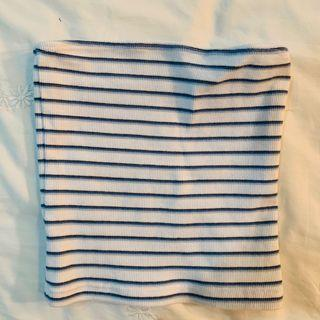 BN brandy Melville blue and white Jenny Striped Tube TOP authentic bm