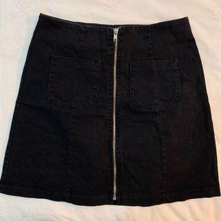 BN brandy Melville Black clarity zip up Skirt authentic bm