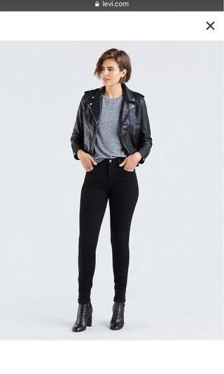 721 Levi's black high waisted jeans