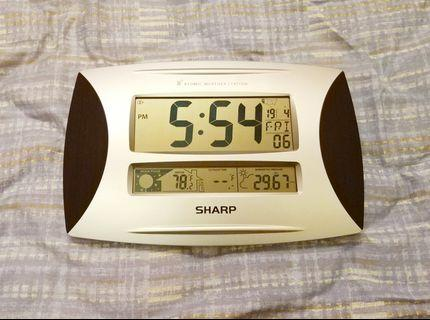 Sharp Atomic Weather Station 電子時鐘/日曆/溫度計