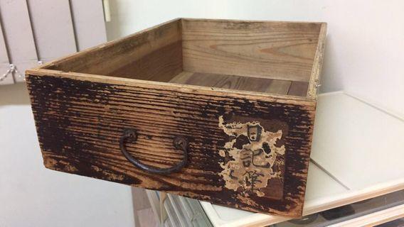 🚚 日本 古董木頭老抽屜