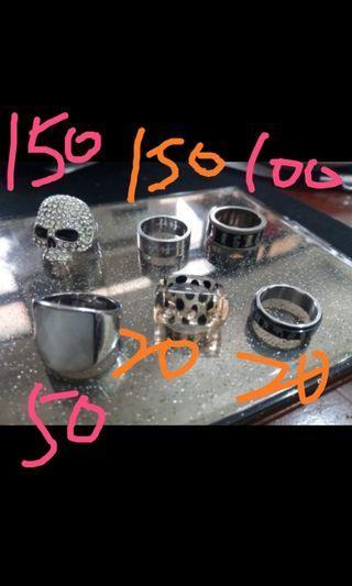 🚚 戒指150+150+100+50+20+20(全買400+60運費)