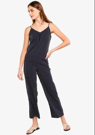 Zalora Relax Fit Striped Jumpsuit