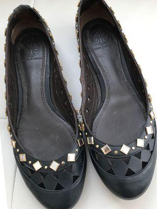 🌷Authentic Tory Burch Jewelled Leather Flats Size 7.5 🌷