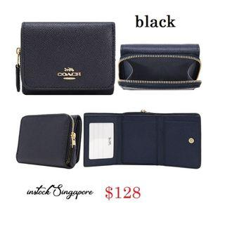 READY STOCK -AUTHENTIC - NEW  COACH SMALL TRIFOLD WALLET (COACH F37968)