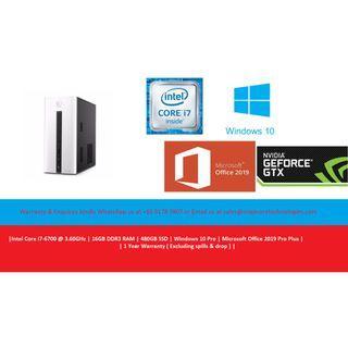 [Refurbished] Hewlett-Packard (HP) Pavilion 550-113D | Intel Core i7-6700 @ 3.60Ghz | 16GB DDR3 RAM | 480GB SSD | Windows 10 Pro | Microsoft Office 2019 Pro Plus | 1 Year Warranty |