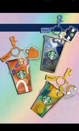 PO starbucks China Keychain Card
