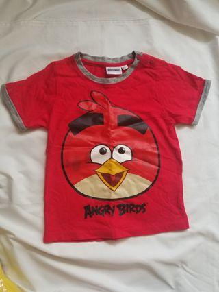 Angry bird sharp red t shirt size 100