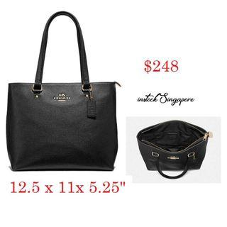 READY STOCK -AUTHENTIC - NEW COACHBAY TOTE (COACH F48637) Full leather tote