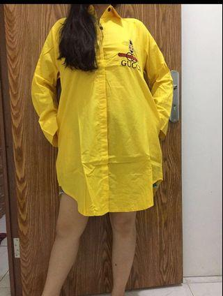 TUNIK GUCCI ONLY YELLOW FIT TO XL 110LD