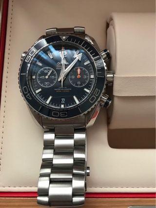 Omega 2019 seamaster plant ocean 600米 45.5毫米 計時腕錶 手錶 藍水鬼 黑水鬼參考007龐德 海馬可刷卡