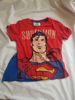 Next superman t shirt 超人 連披肩t shirt