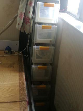 六層窄身膠柜桶