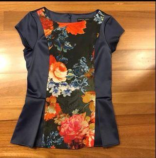 Dorothy Perkins Rococco Floral Peplum Top