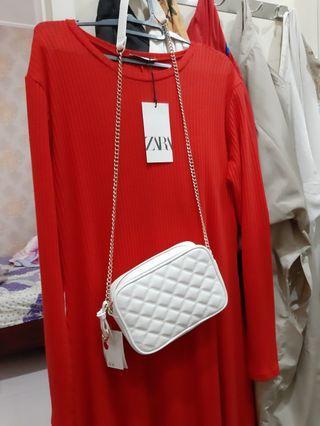 camera sling bag white H&M