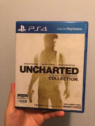 (95%新)PS4 Uncharted collection 1,2,3