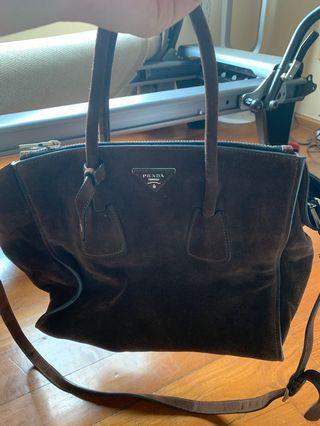 Prada Suede Brown Bag BN2619