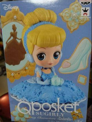 Disney迪士尼 Cinderella灰姑娘 qposket figure