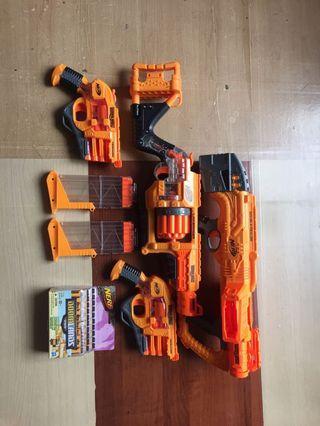 Nerf Doomlands series lot of toy guns