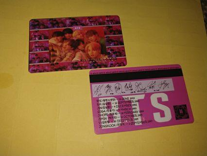 Exclusive Bts membership card