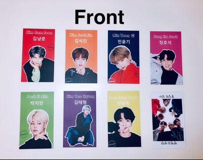 BTS MOTS Persona FS Photocards [High Quality]