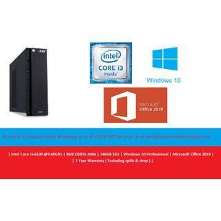[Refurbished] Acer XC-610 SFF | Intel Core i3-6100 @3.60GHz | 8GB DDR3L RAM | 240GB SSD | Windows 10 Pro | Microsoft Office 2019 | 12 Months Warranty |
