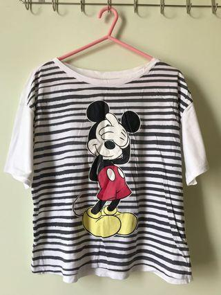 Uniqlo間條米奇T-shirt