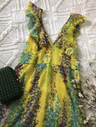 Forcast floral chiffon summer dress