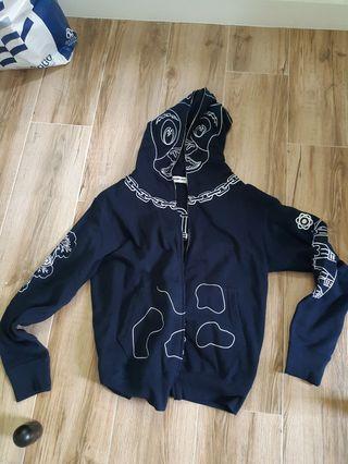 bape hoodie 極罕 rare real(not nike adidas puma nike alexander) 刺繡