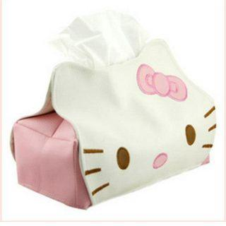 Hello Kitty Leather Tissue Box BBD905398C #EST50